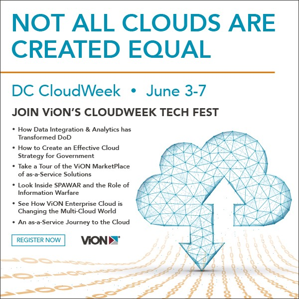 Not all clouds are created equal - DC CloudWeek, June 3-7 - Join ViON's CloudWeek Tech Fest