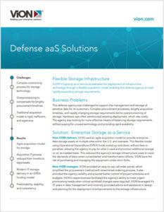 Defense_xaaS_Solutions Cover with ViON logo and sans-serif type