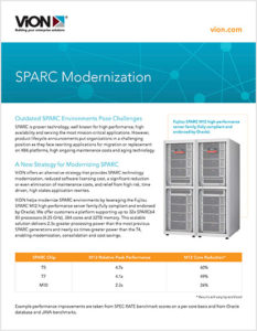 SPARC Modernization Cover with ViON logo and sans-serif type and product photo