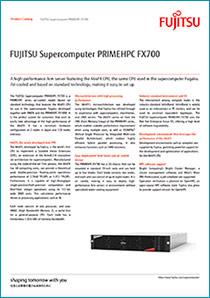 Cover of FUJITSU Supercomputer PRIMEHPC FX700 data sheet