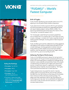 Cover of Fugaku Worlds Fastest Supercomputer solution brief