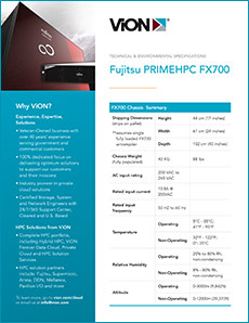 Cover of Fujitsu FX700 Environmental and Technical Specs