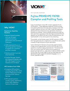 Cover of Fujitsu HPC Compiler Capabilities for FX700 featured overview